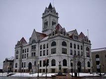 Cole County Courthouse i snö Royaltyfria Bilder