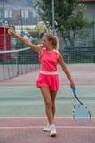 École de tennis extérieure Photographie stock