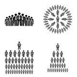 Cole a figura vetor grande dos recursos humanos da empresa dos homens de negócios do ícone Imagens de Stock