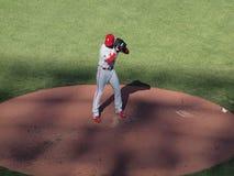 Cole Hamels van Phillies plaatst om hoogte te werpen Stock Fotografie