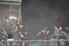 Cole Sprouse på uppsättning arkivfoto