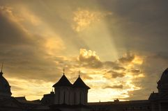 Colțea Church at sunrise Stock Photography