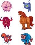Colección 005 del diseño de carácter: Animales ilustración del vector