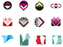 Colección 04 de la insignia Fotografía de archivo libre de regalías