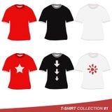 Colección #1 de la camiseta Fotografía de archivo