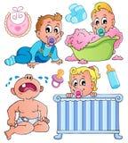 Colección 1 del tema de los bebés Fotos de archivo