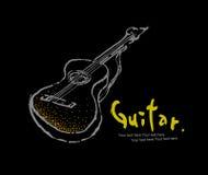 Colección -5 de los instrumentos: Guitarra de la roca Fotos de archivo