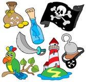 Colección 6 del pirata Foto de archivo libre de regalías