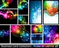 Colección abstracta de la tarjeta de visita: Flujo de las luces 2 Fotos de archivo