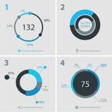 Colección abstracta de las plantillas del infographics Imágenes de archivo libres de regalías