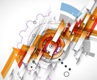 Colección abstracta del fondo de la tecnología para las ideas de la solución del negocio Imagenes de archivo