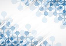Colección abstracta del fondo de la tecnología para las ideas de la solución del negocio Foto de archivo libre de regalías