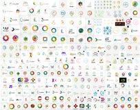 Colección abstracta del vector del logotipo de la compañía Imágenes de archivo libres de regalías