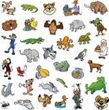 Colección al azar del animal de la historieta Fotos de archivo libres de regalías