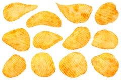 Colección anaranjada de las patatas fritas de la pimienta Imagen de archivo