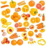 Colección anaranjada del alimento Fotografía de archivo