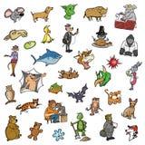 Colección animal 2 de la historieta al azar Fotografía de archivo libre de regalías