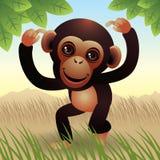 Colección animal del bebé: Mono Ilustración del Vector