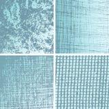 Colección azul de los fondos del grunge Imagen de archivo