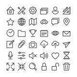 Colección básica del icono - limpia y simple stock de ilustración