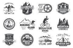 Colección biking de la montaña Ilustración del vector libre illustration