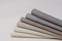 Colección brillante de muestras de la materia textil del yute Fondo de la textura de la tela Imagenes de archivo