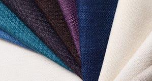 Colección brillante de muestras de la materia textil del yute Fondo de la textura de la tela Fotos de archivo libres de regalías