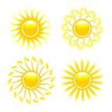 Colección brillante del sol. Foto de archivo libre de regalías