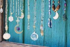 Colección brillante hermosa del collar de la joyería Fotos de archivo
