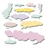 Colección cómica de la nube - conjunto 4 Imagen de archivo