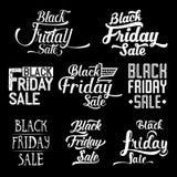 Colección caligráfica del diseño de Black Friday Fotos de archivo
