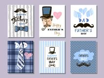Colección cards11 del día del ` s del padre libre illustration