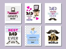 Colección cards4 del día del ` s del padre libre illustration
