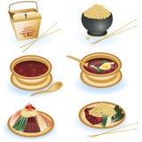 Colección china del alimento Fotografía de archivo