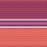 Colección coloreada de cordón Ilustración del Vector