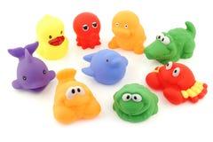 Colección colorida de bañar los juguetes Foto de archivo