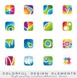Colección colorida de elementos del diseño stock de ilustración