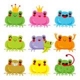 Colección colorida de las ranas libre illustration