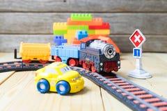 Colección colorida de los juguetes Fotos de archivo libres de regalías