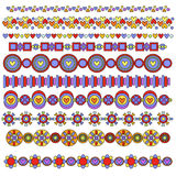 Colección colorida del ajuste o de la frontera stock de ilustración