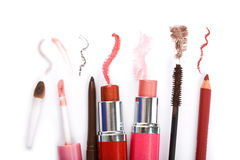 Colección colorida del maquillaje imagen de archivo