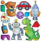 Colección con el tema 2 de los juguetes stock de ilustración