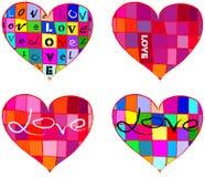 Colección con estilo del corazón stock de ilustración