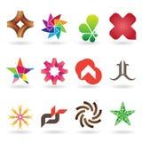 Colección contemporánea de la insignia y del icono Fotografía de archivo