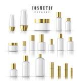 Colección cosmética en blanco del paquete ilustración del vector