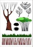 Colección creativa de los elementos del bosque Fotografía de archivo