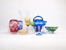 Colección cristalina multicolora Fotografía de archivo