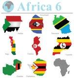 Colección 6 de África Imagen de archivo