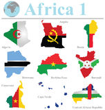 Colección 1 de África Imagen de archivo