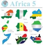 Colección 5 de África Imagen de archivo